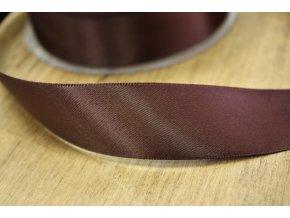Čokoládová saténová stuha,  25 mm