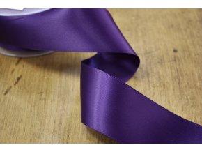 Královská fialová saténová stuha,  38 mm