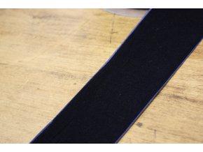 Tmavě modrá sametová stuha, 50 mm