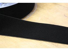 Černá sametová stuha, 38 mm