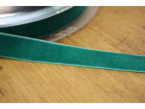 Tyrkysová sametová stuha, 16mm