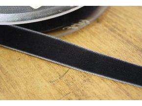Šedomodrá sametová stuha, 16mm