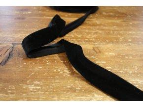 Sametový šikmý proužek, 25 mm