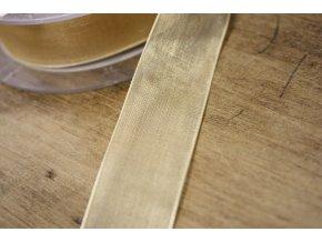 Vanilková organzová stuha, 23mm