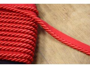 Červená kroucená paspulka, 7,5mm