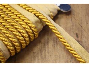 Zlatá kroucená paspulka, 7,5mm