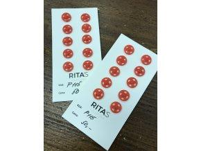 Červené plastové patentky, 10mm