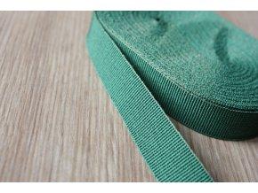 Zelená rypsová stuha, 15mm