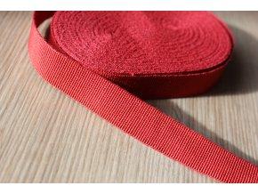 Červená rypsová stuha, 15mm