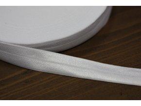 Bílá Lesklá jemná guma - lemovka, 19 mm