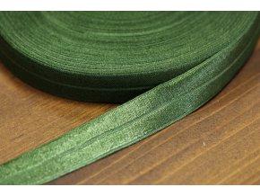 Zelená Lesklá jemná guma - lemovka, 19 mm