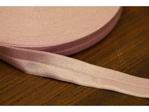 Růžová lesklá jemná guma - lemovka, 19 mm