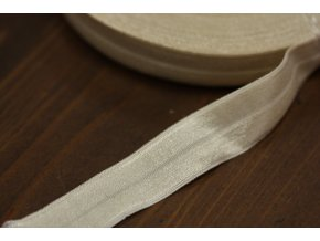 Tělová lesklá jemná guma - lemovka, 19 mm