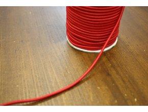 Červená kulatá gumička, 3mm
