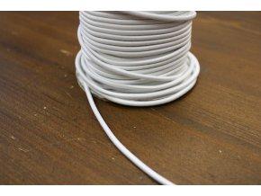 Bílá kulatá gumička, 3mm