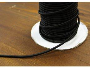 Černá kulatá gumička, 3mm