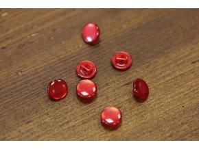 Červený knoflík, 10mm