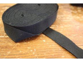 Černá rypsová stuha, 15mm
