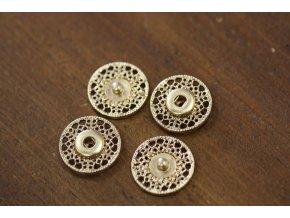 Zlaté kovové patenty, 20mm