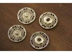 Zlaté kovové patenty, 25mm