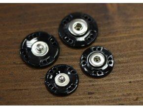 Černé plastové patenty, 20mm a 25mm