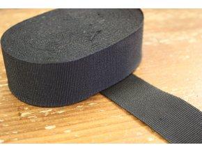 Černá rypsová stuha, 25mm