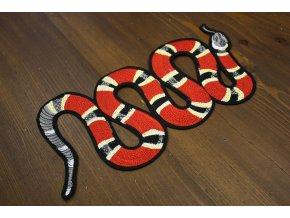Nažehlovací aplikace ve tvaru hada, a la Gucci