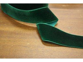 Zelená sametová stuha, 38 mm
