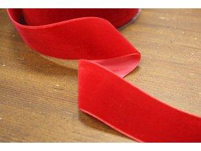 Červená sametová stuha, 38 mm