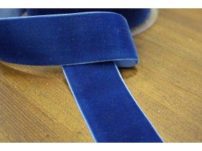 Modrá sametová stuha, 38 mm