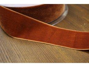 Rezavá sametová stuha, 38 mm