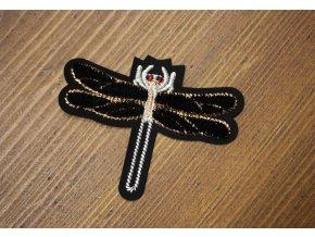 """Plastická nažehlovací aplikace """"Dragonfly"""" ve stylu Gucci"""