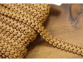Hnědý koženkový prýmek, 13mm