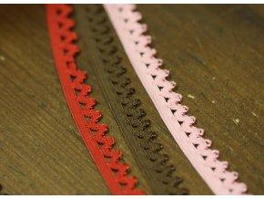 Jemná gumička s krajkovým okrajem, 12mm