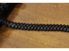 Černý koženkový prýmek, 13mm
