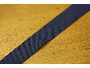 Tmavě modrá stuha Petersham, 19mm