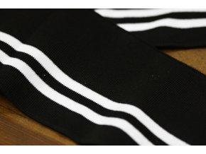 Pruhovaný černobílý náplet, 11cm
