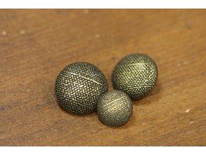 Mosazný kovový knoflík se strukturou, 3 velikosti