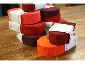 Rypsová stuha v odstínech červené, 25mm