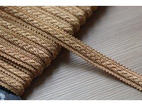 Dekorativní prýmek zlatavě měděný, 12mm
