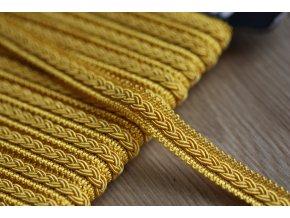 Dekorativní prýmek zlatavě žlutý, 12mm