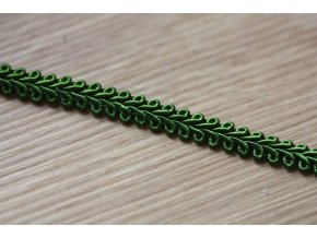 Klasický prýmek v trávově zelené barvě, 7,5mm