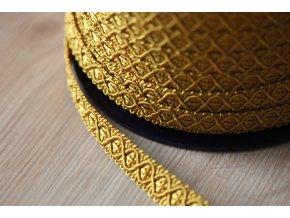 Zlatý dekorativní prýmek, 12mm