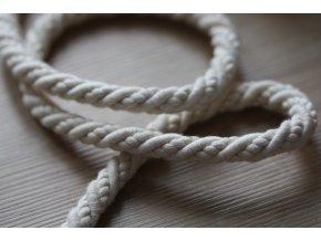 Smetanový bavlněný provaz, 8mm