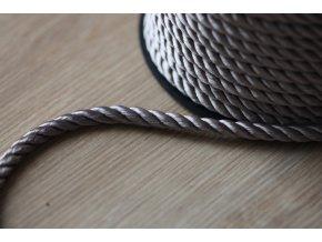 Šedý kroucený provaz, 5mm