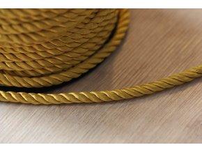 Zlatý kroucený provaz, 5mm