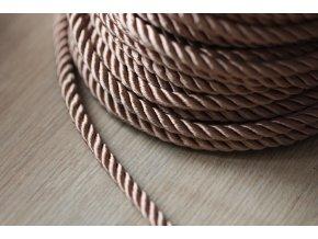 Béžový kroucený provaz, 5mm