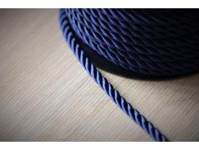 Tmavě modrý kroucený provaz, 5mm