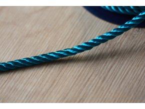 Tyrkysový kroucený provaz, 5mm