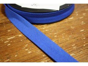 Modrý bavlněný šikmý proužek 15 mm, 25 mm
